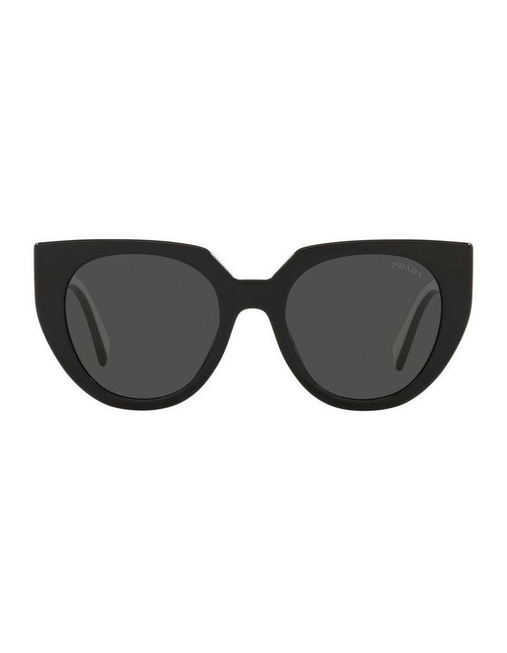 Black/ Silver Cat Eye Sunglasses 0PR 14WS image 2
