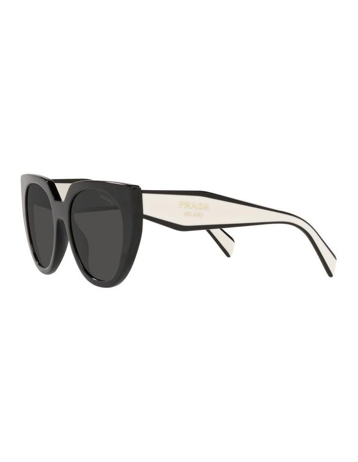Black/ Silver Cat Eye Sunglasses 0PR 14WS image 3