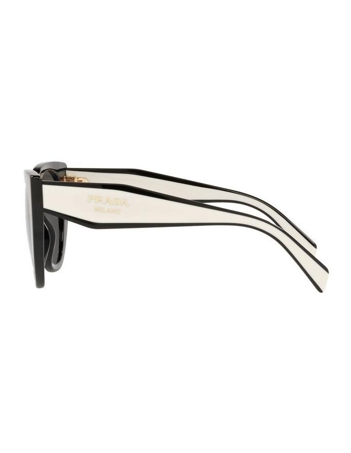 Black/ Silver Cat Eye Sunglasses 0PR 14WS image 4