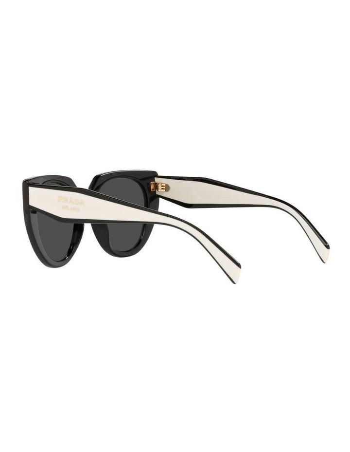 Black/ Silver Cat Eye Sunglasses 0PR 14WS image 5