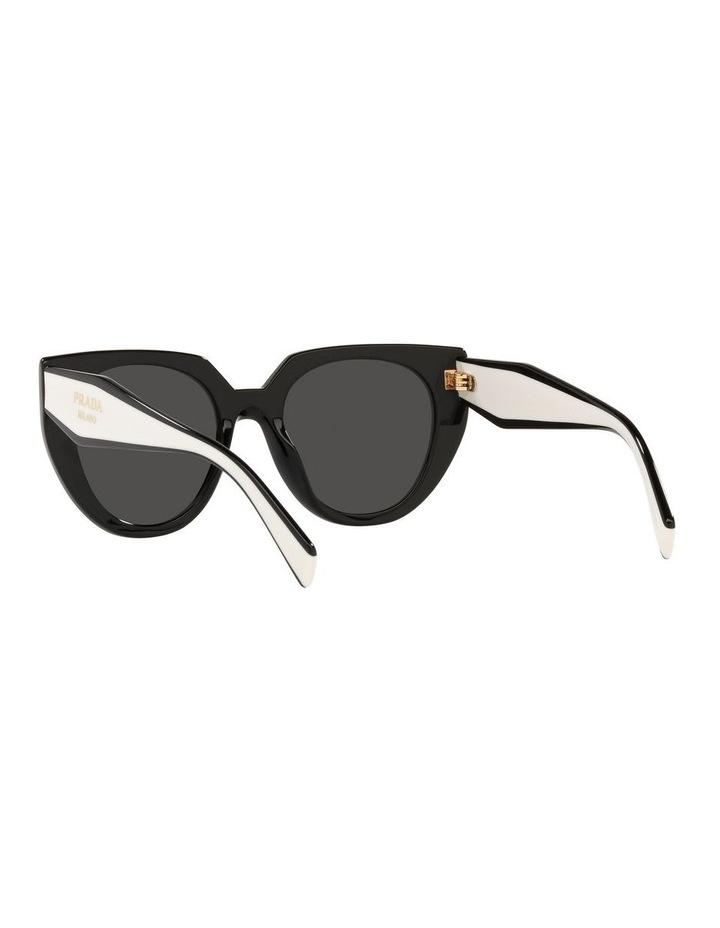 Black/ Silver Cat Eye Sunglasses 0PR 14WS image 6