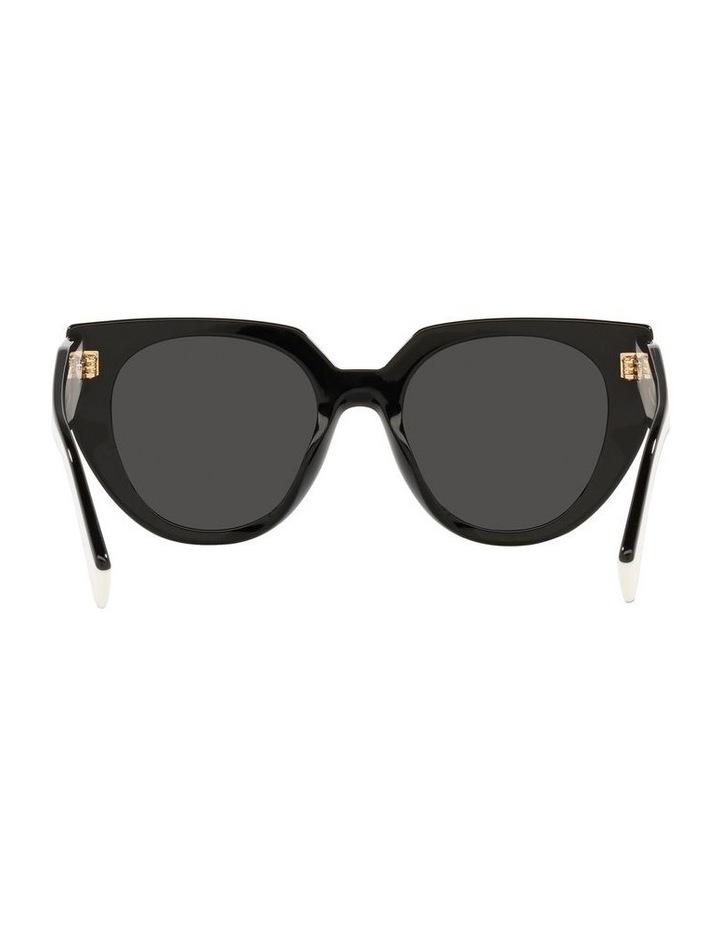 Black/ Silver Cat Eye Sunglasses 0PR 14WS image 7