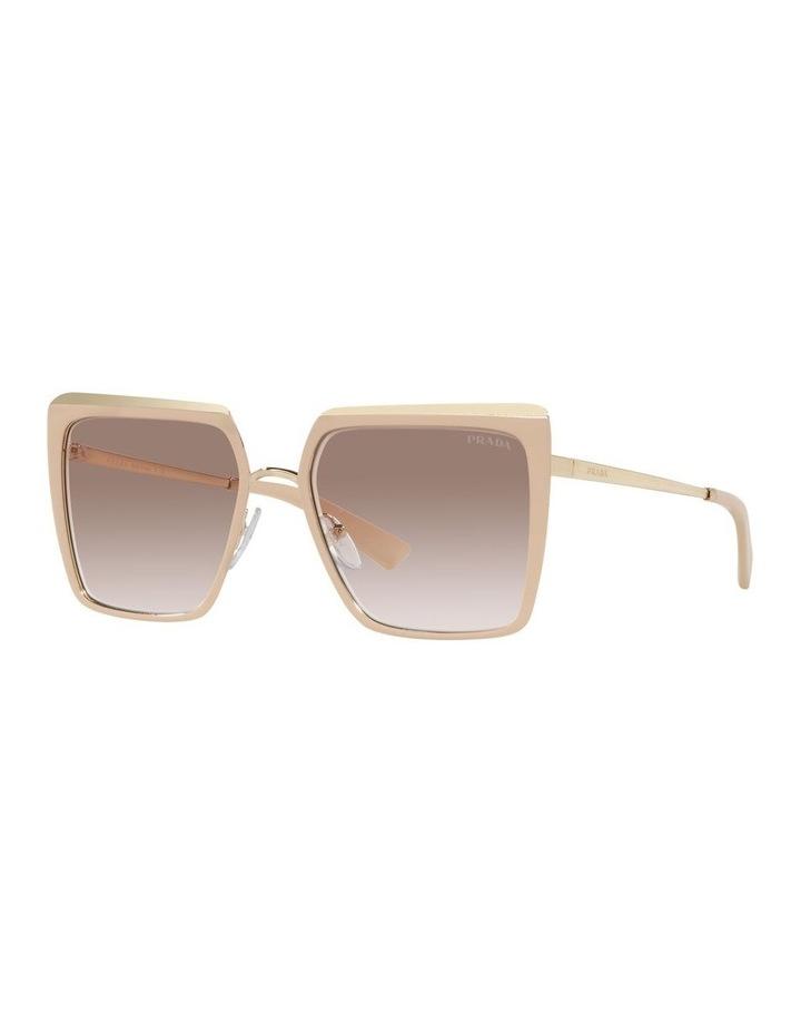 Tan Square Sunglasses 0PR 58WS image 1