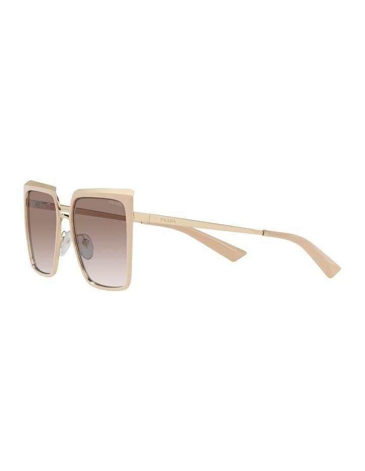 Tan Square Sunglasses 0PR 58WS image 3