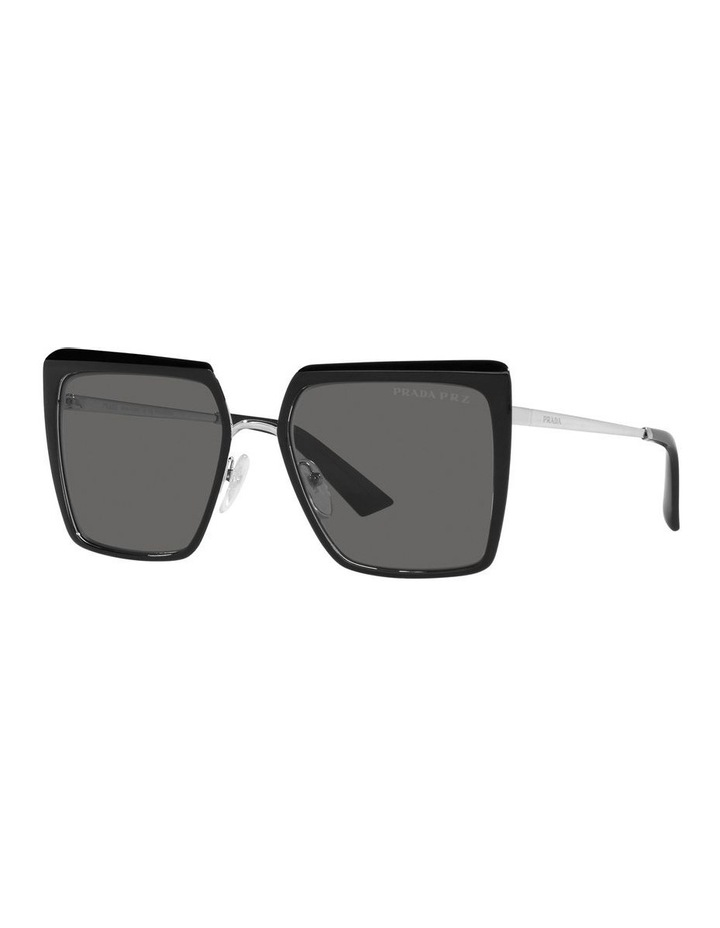 Polarised Black Square Sunglasses 0PR 58WS image 1