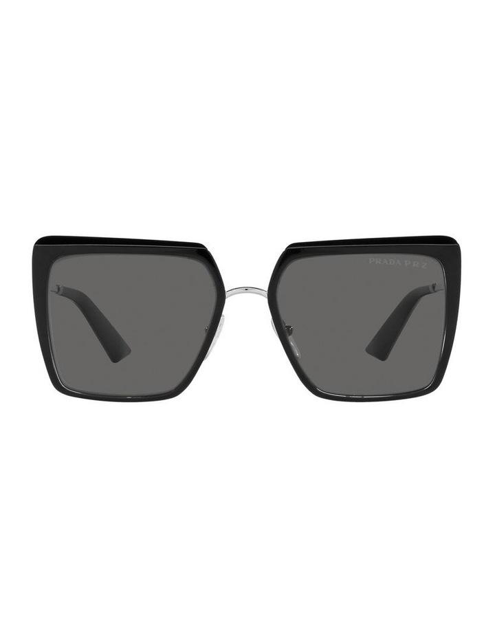 Polarised Black Square Sunglasses 0PR 58WS image 2