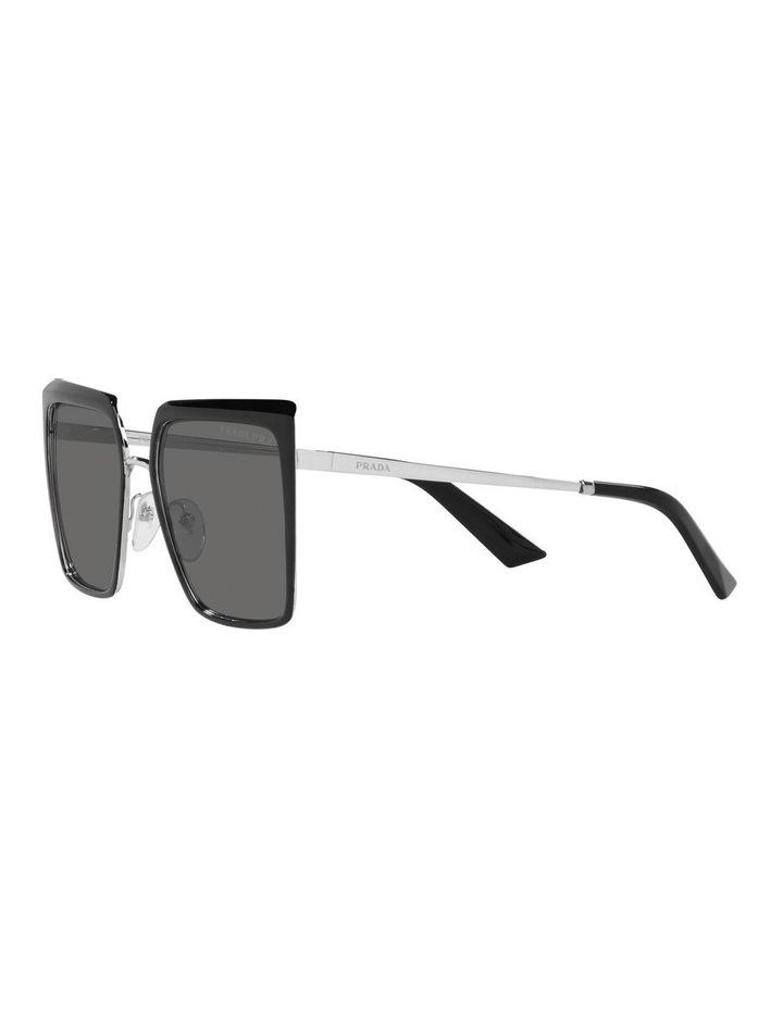 Polarised Black Square Sunglasses 0PR 58WS image 3