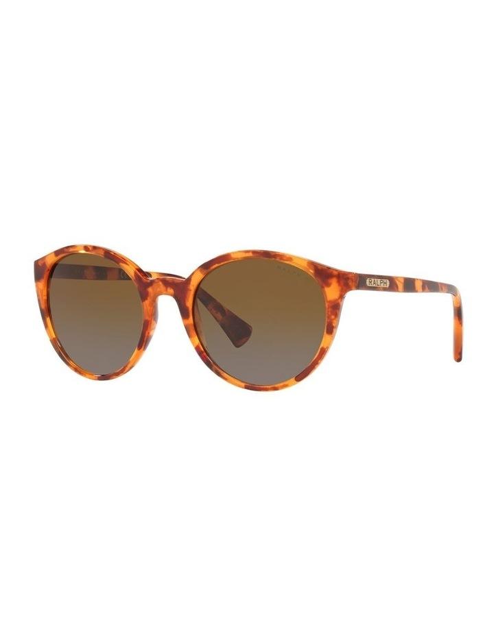 Polarised Brown Oval Sunglasses 0RA5273 image 1
