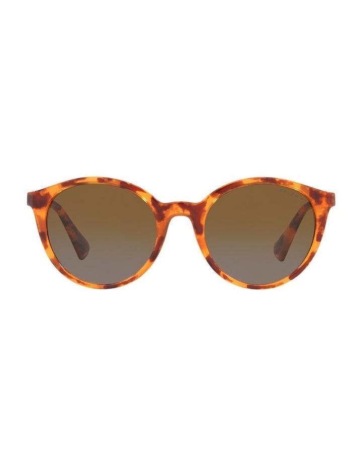 Polarised Brown Oval Sunglasses 0RA5273 image 2
