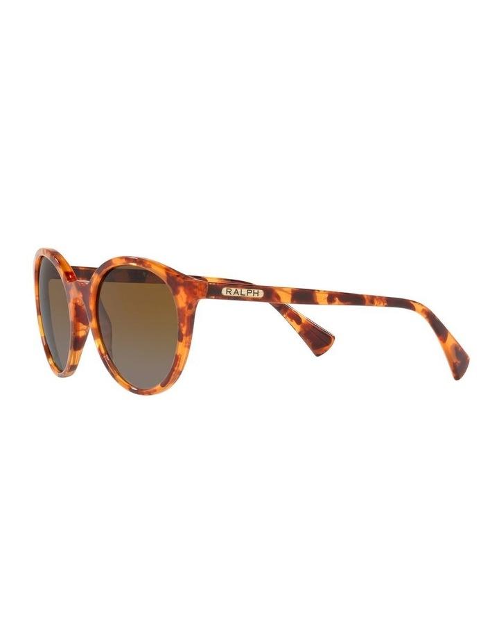 Polarised Brown Oval Sunglasses 0RA5273 image 3