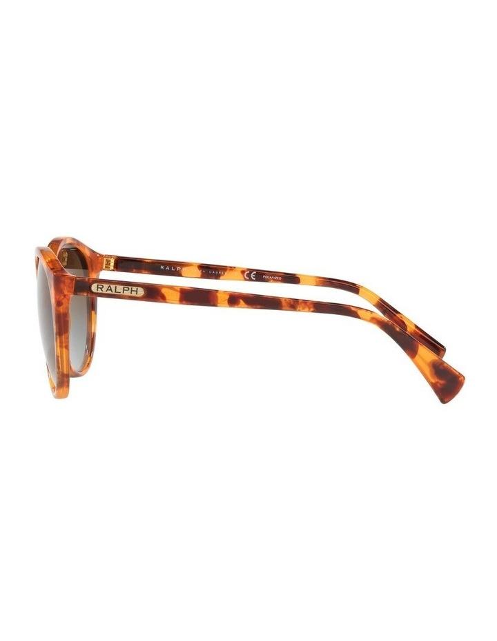 Polarised Brown Oval Sunglasses 0RA5273 image 4