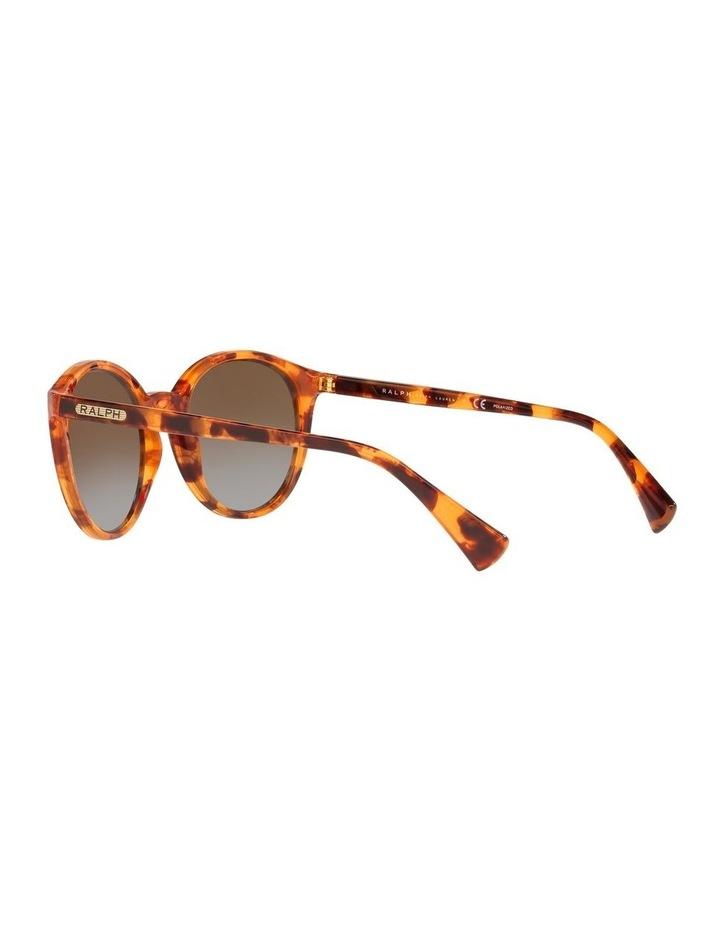 Polarised Brown Oval Sunglasses 0RA5273 image 5