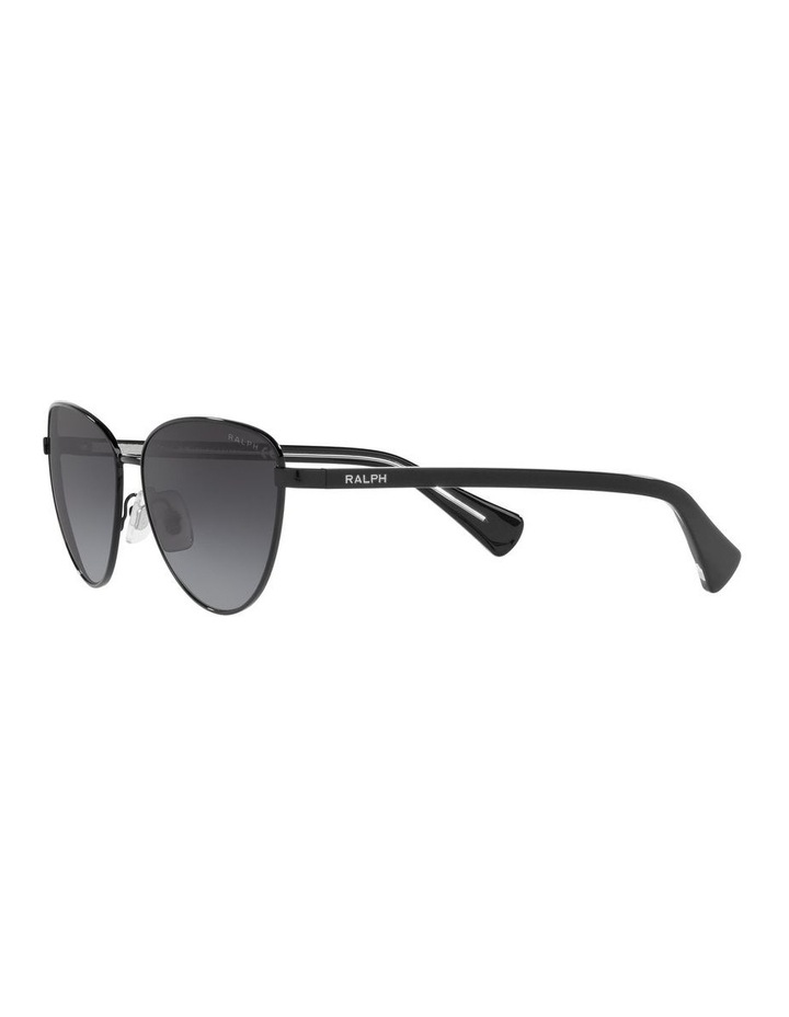 Black Cat Eye Sunglasses 0RA4134 image 3