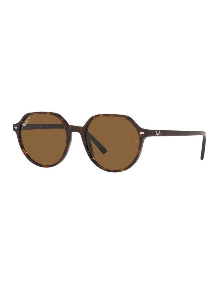 Thalia Polarised Brown Square Sunglasses 0RB2195 image 1