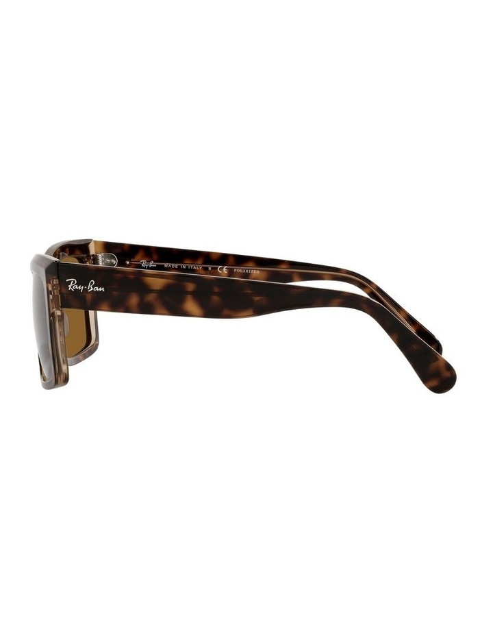 Inverness Polarised Brown Rectangle Sunglasses 0RB2191 image 4