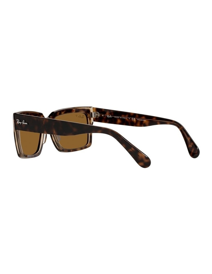 Inverness Polarised Brown Rectangle Sunglasses 0RB2191 image 5