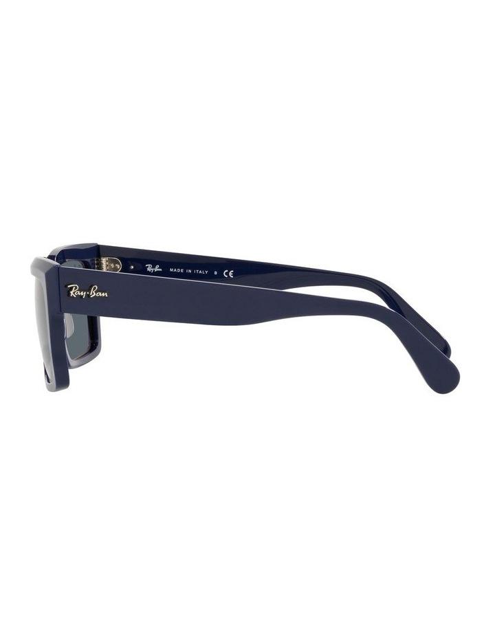 Inverness Black Rectangle Sunglasses 0RB2191 image 4