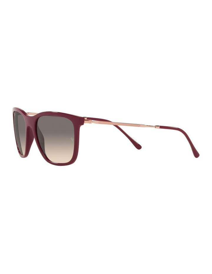 Red Rectangle Sunglasses 0RB4344 image 3