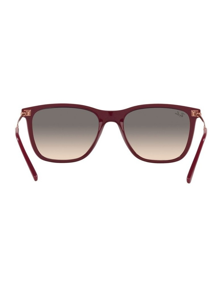 Red Rectangle Sunglasses 0RB4344 image 7