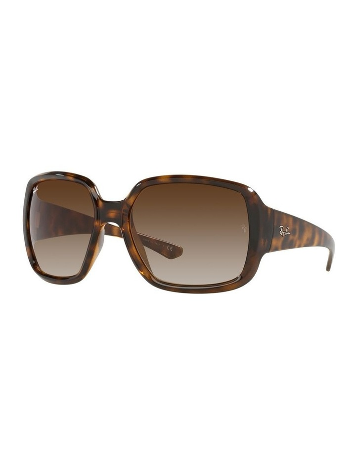 Brown Square Sunglasses 0RB4347 image 1