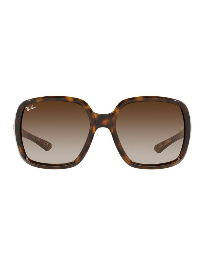 Brown Square Sunglasses 0RB4347 image 2