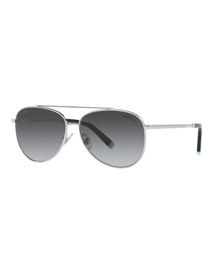 Polarised Black Aviator Sunglasses 0TF3074 image 1