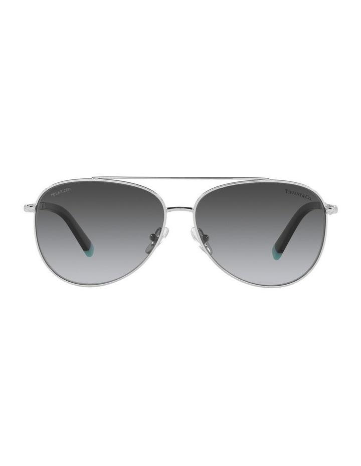 Polarised Black Aviator Sunglasses 0TF3074 image 2