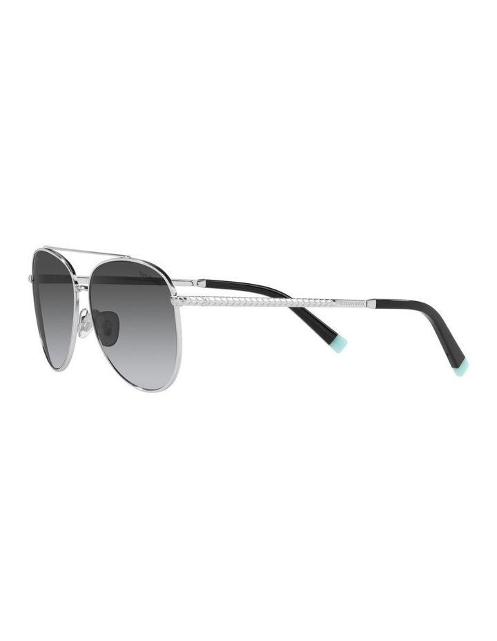 Polarised Black Aviator Sunglasses 0TF3074 image 3