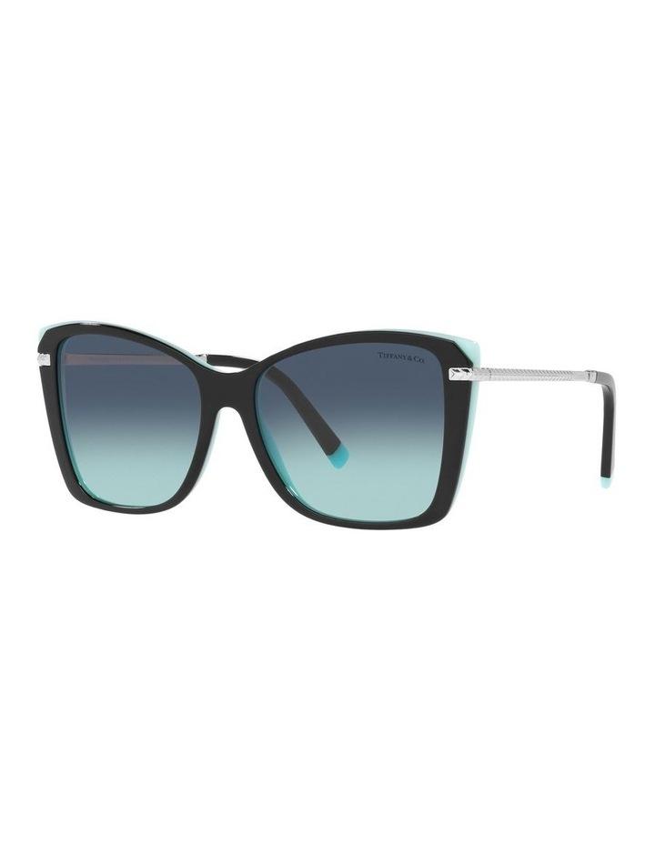 Black/ Blue Square Sunglasses 0TF4180 image 1