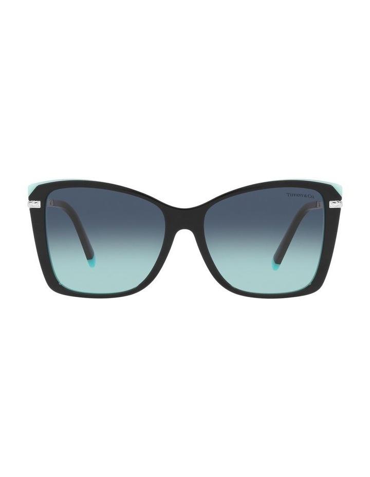 Black/ Blue Square Sunglasses 0TF4180 image 2