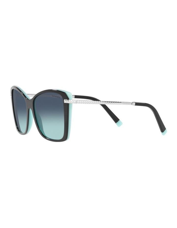 Black/ Blue Square Sunglasses 0TF4180 image 3
