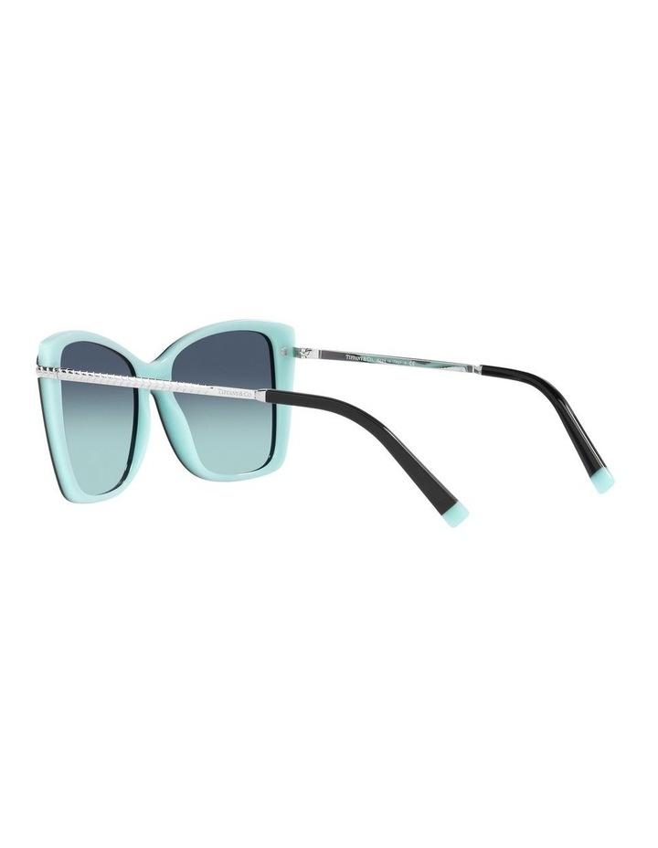 Black/ Blue Square Sunglasses 0TF4180 image 5
