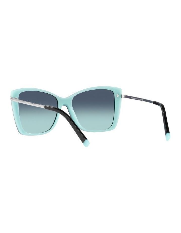 Black/ Blue Square Sunglasses 0TF4180 image 6