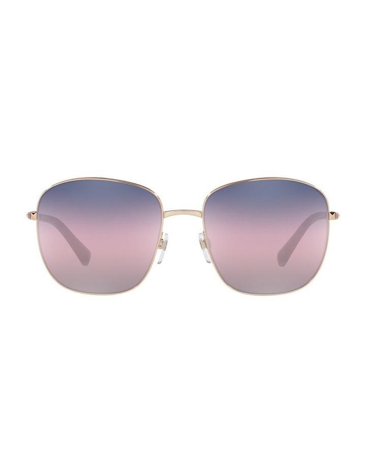 Gold/ Taupe Square Sunglasses 0VA2046 image 2