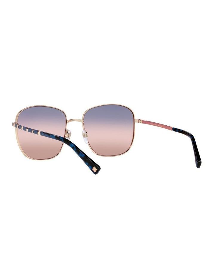 Gold/ Taupe Square Sunglasses 0VA2046 image 6