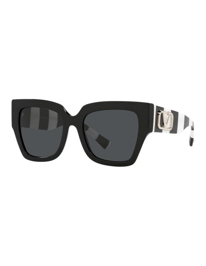 Black/ White Square Sunglasses 0VA4082 image 1