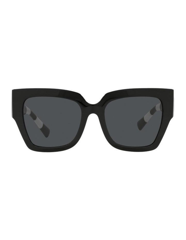 Black/ White Square Sunglasses 0VA4082 image 2