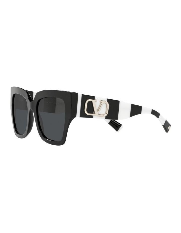 Black/ White Square Sunglasses 0VA4082 image 3