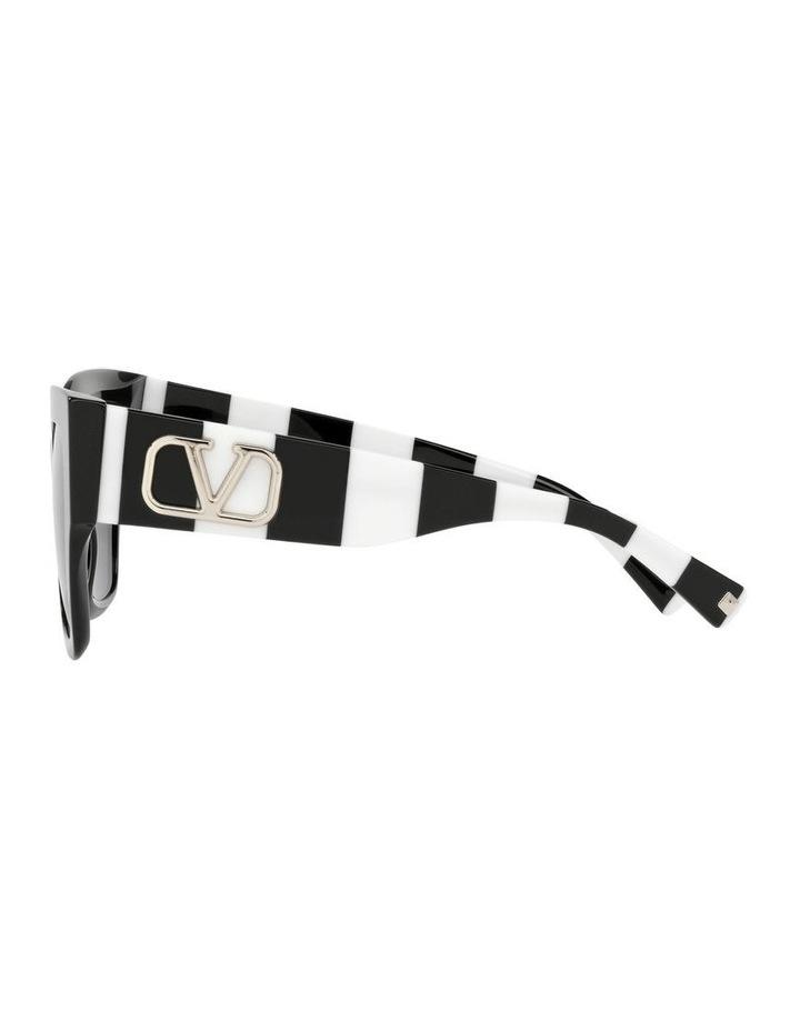 Black/ White Square Sunglasses 0VA4082 image 4