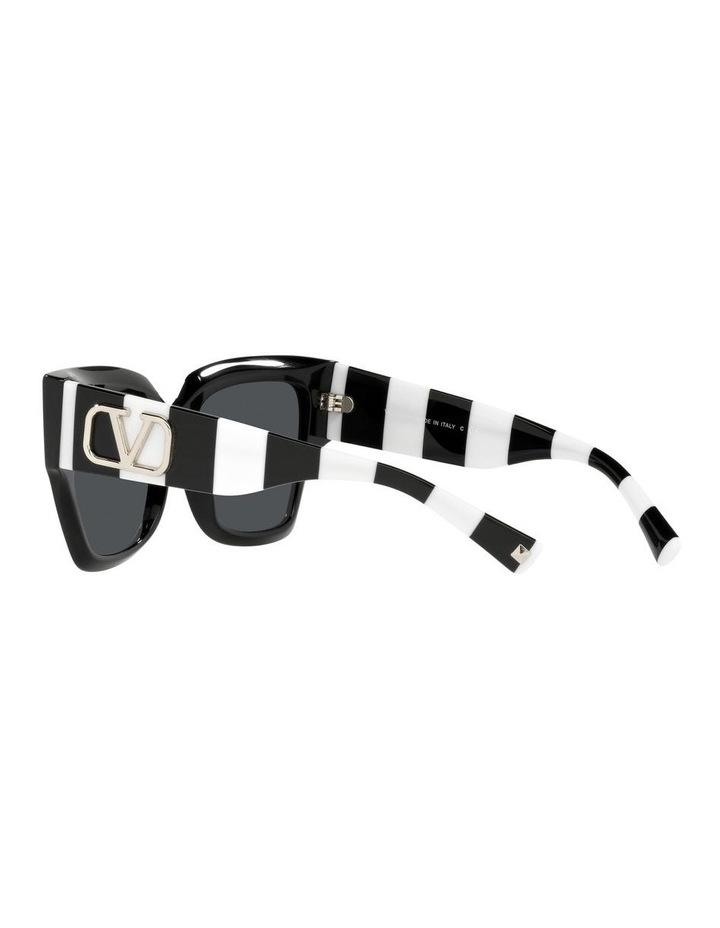 Black/ White Square Sunglasses 0VA4082 image 5
