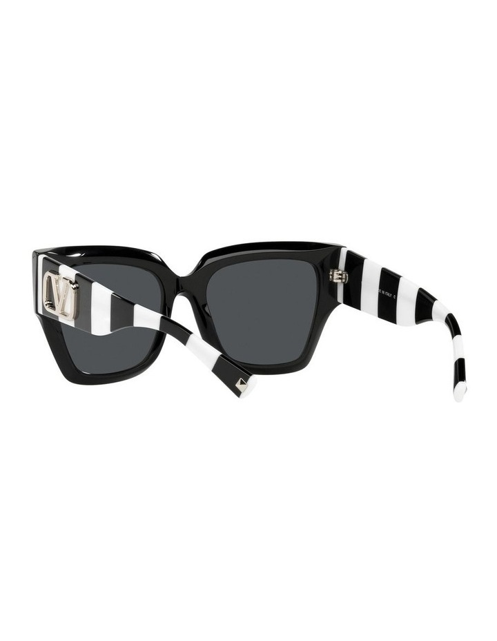 Black/ White Square Sunglasses 0VA4082 image 6