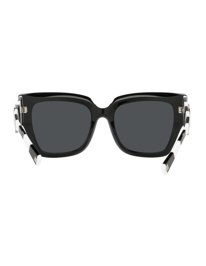 Black/ White Square Sunglasses 0VA4082 image 7
