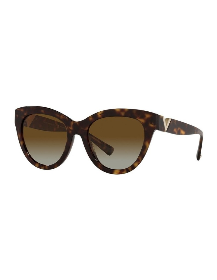 Polarised Brown Cat Eye Sunglasses 0VA4089 image 1
