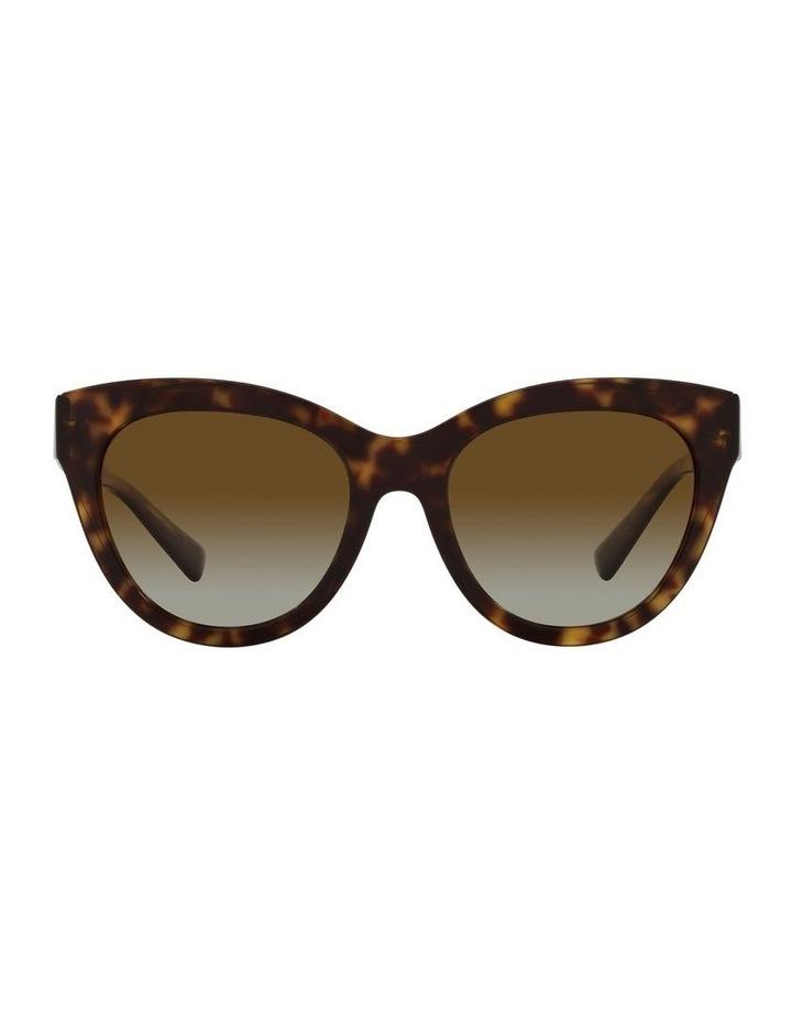 Polarised Brown Cat Eye Sunglasses 0VA4089 image 2