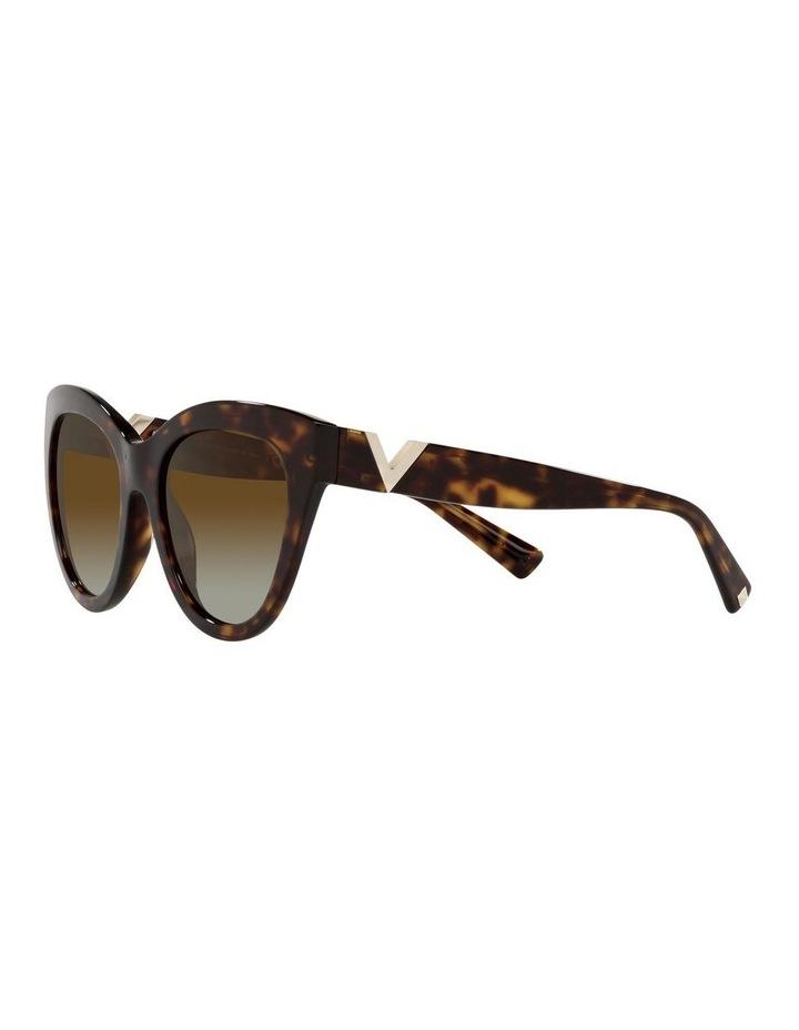 Polarised Brown Cat Eye Sunglasses 0VA4089 image 3