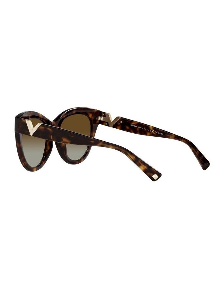 Polarised Brown Cat Eye Sunglasses 0VA4089 image 5