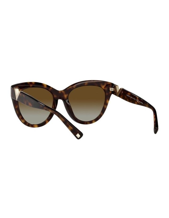 Polarised Brown Cat Eye Sunglasses 0VA4089 image 6