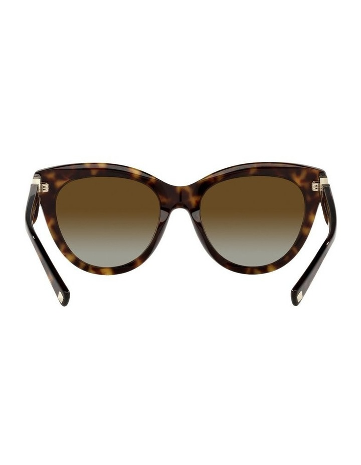 Polarised Brown Cat Eye Sunglasses 0VA4089 image 7