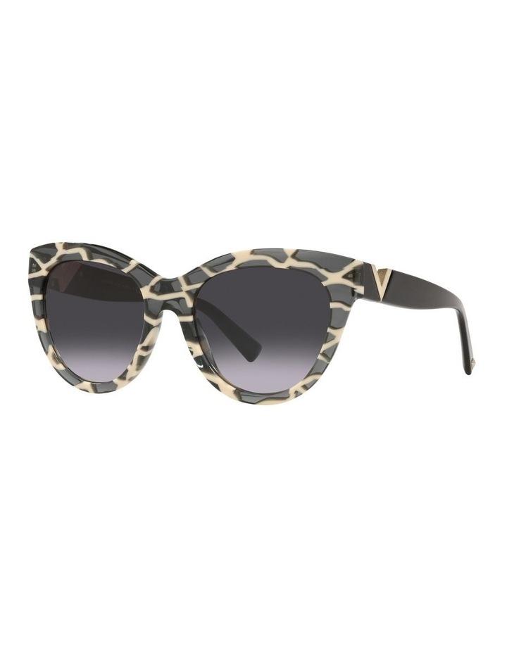 Black Tint Square Sunglasses 0VA4088F image 1