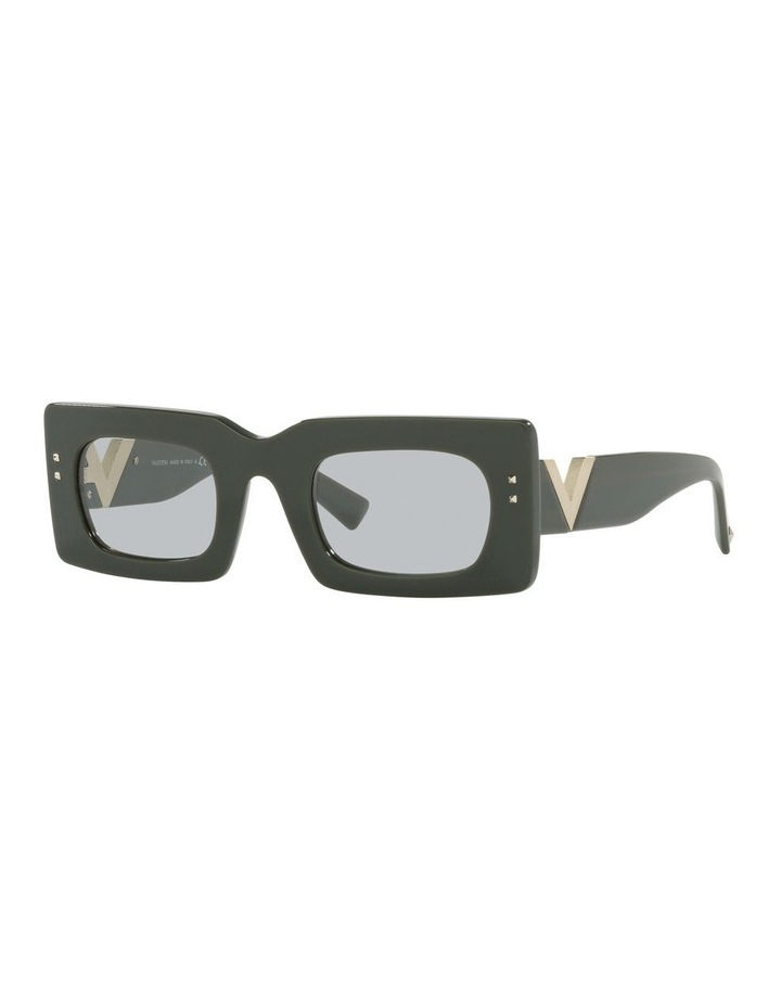 Black Tint Rectangle Sunglasses image 1